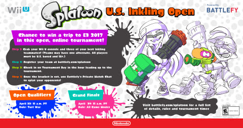 Show Off Your Skills in the Splatoon U.S. Inkling Open Tournament For a Chance to Win a Trip to E3 2 ...