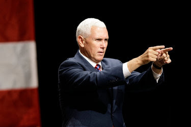 Gov. Mike Pence in Raleigh, N.C., on Thursday.