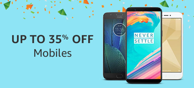 Up to 35% off Mobiles