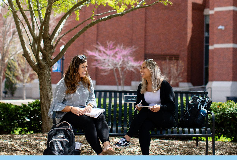 Students on Creighton's campus
