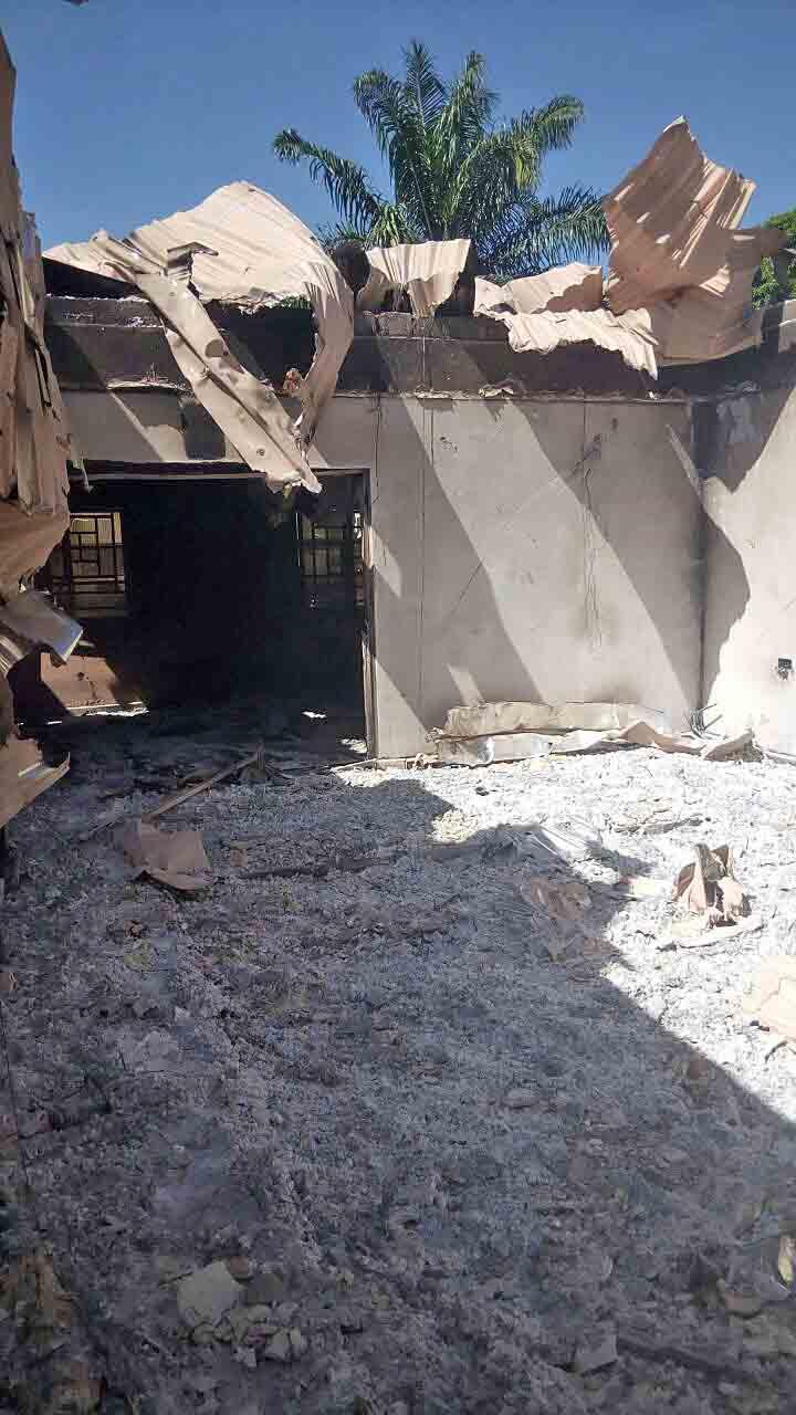 Remains of house of slain ECWA member Daniel Akai. (Morning Star News)
