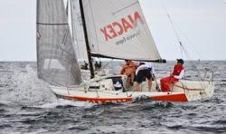 J/80 sailboat- sailing off Spain