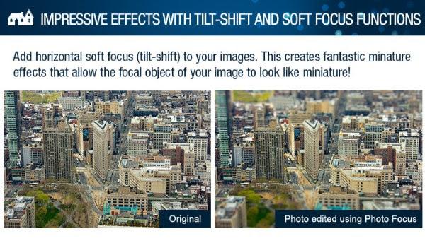 InPixio Photo Focus tilt-shift