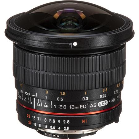 12mm F2.8 Full Frame Fisheye, Manual Focus Lens for Nikon F Mount with AE Chip