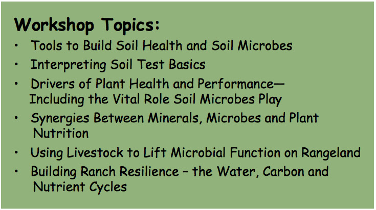 Soils Masterclass Topics Big
