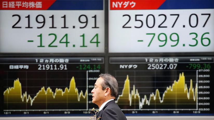 La Bolsa de Tokio cae más de un 5% tras el peor diciembre de Wall Street desde la Gran Depresión