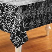 Spider Web Halloween Plastic Table Cover
