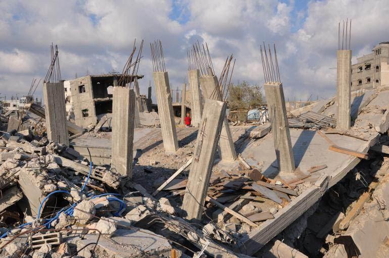 Quartier de Chajaya, Gaza, septembre 2014