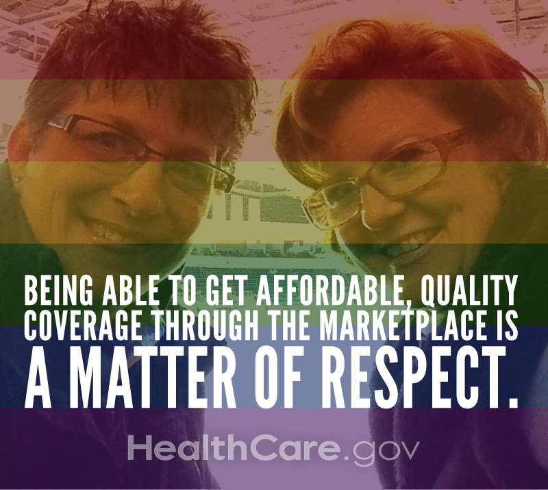 Being able to get affordable, quality coverage through the Marketplace is a matter of respect. HealthCare.gov.