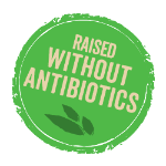 Raised without antibiotics