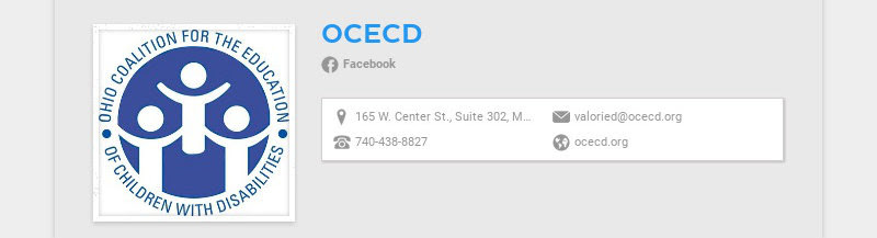 OCECD Facebook 165 W. Center St., Suite 302, Marion, Ohio 43302 valoried@ocecd.org 740-438-8827...