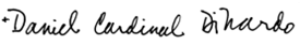 Cardinal DiNardo Signature