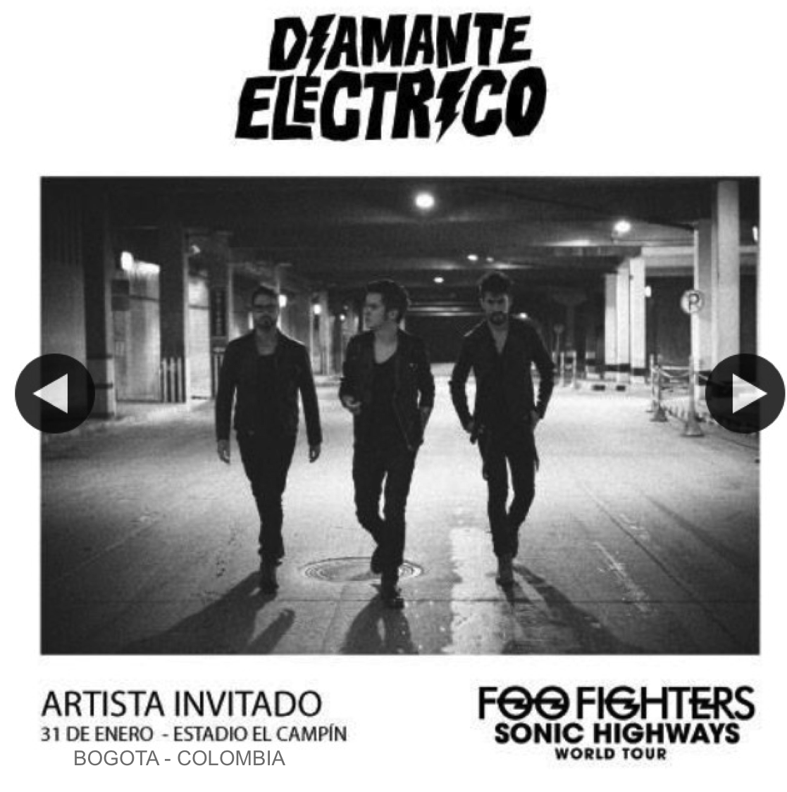 DIAMANTE ELECTRICO  - Foo Fighters .jpg