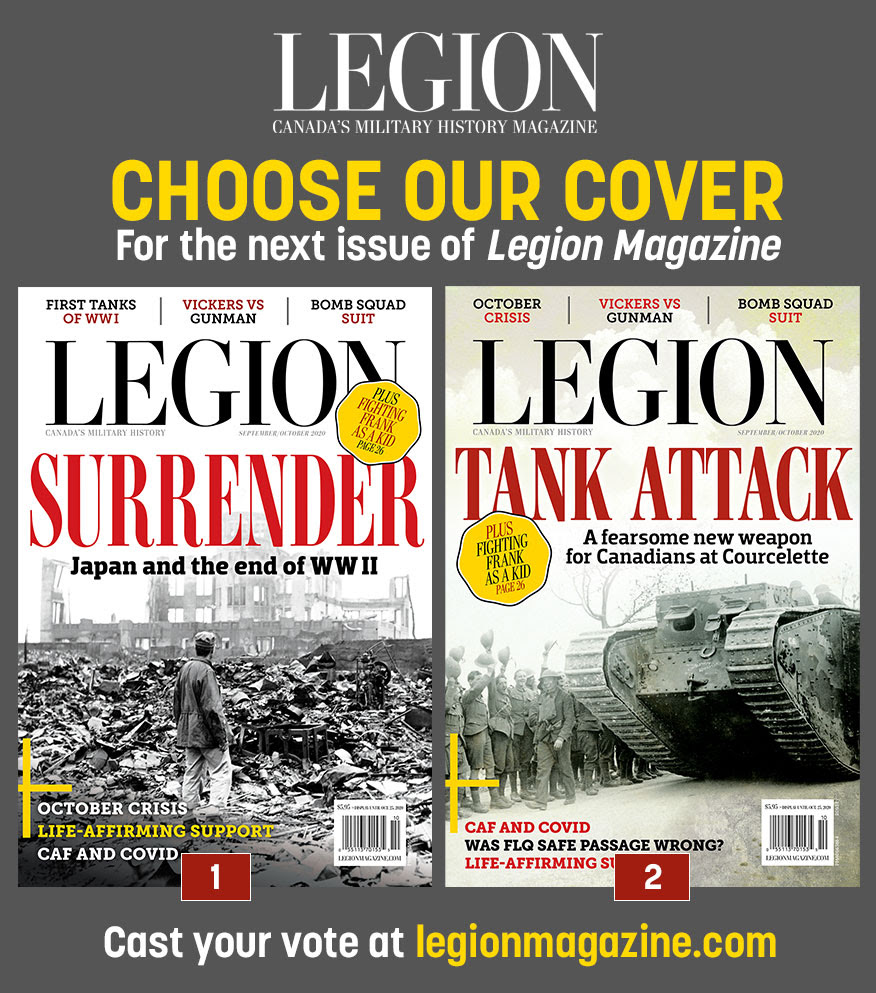 Cast your vote for the next cover of Legion Magazine!