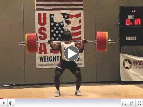 Kendrick Farris 205kg Clean & Jerk American Record Attempt 2010 Arnold Classic Slow Motion