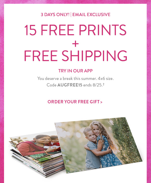 snapfish 15 free 4x6 prints free standard shipping redflagdeals