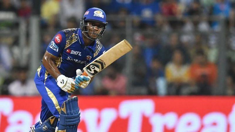 Evin Lewis played for Mumbai Indians in IPL 2019