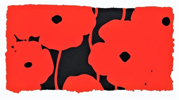 Donald Sultan Eight Poppies , 2010