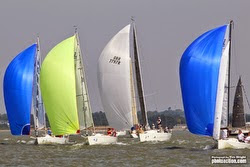 J/Cup racing off Cowes, England