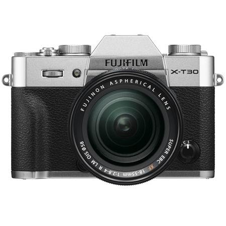 X-T30 Mirrorless Digital Camera Body, with XF 18-55mm F2.8-4 R LM OIS Lens, Silver