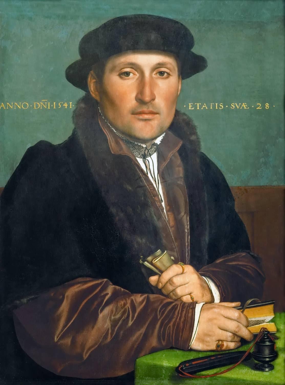 https://upload.wikimedia.org/wikipedia/commons/4/45/Hans_Holbein_d.J._-_Bildnis_eines_jungen_Kaufmannes_%281541%29.jpg
