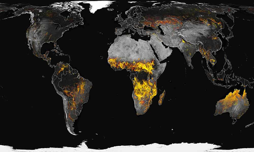 How fires have spread to previously untouched parts of the world