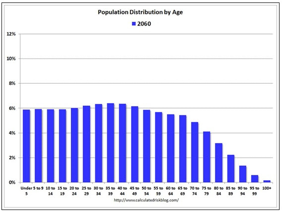 Population distribution 2060
