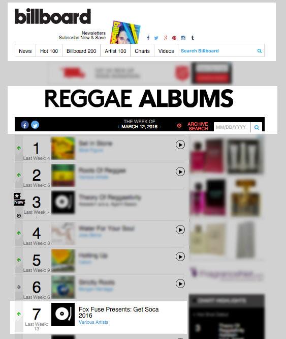 Get Soca 2016 7 on Billboard Chart