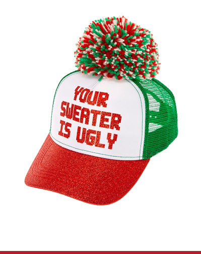 UGLY SWEATER TRUCKER HAT