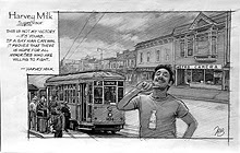 Harvey Milk Sketch by Thomas Haller Buchanan