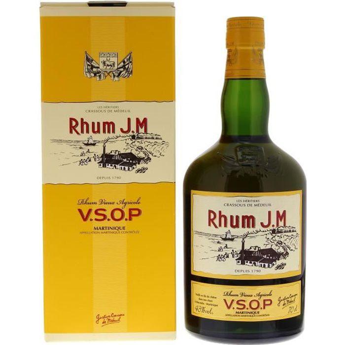 J.M Rhum Vieux Agricole VSOP 43° 70cl - Achat / Vente rhum J.M ...