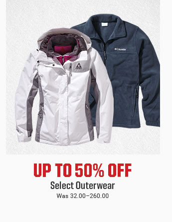 UP TO 50% OFF - Select Outerwear | Was 32.00-260.00 | SHOP NOW