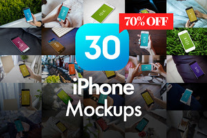 30 iPhone Mockups