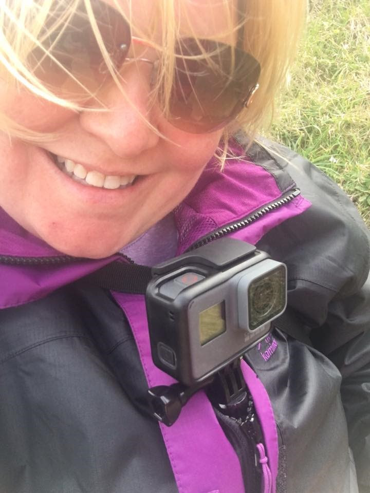 Vicky with GoPro