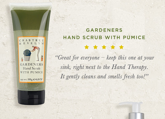 """Gardeners Hand Scrub with Pumice. """"Great for everyone – keep this one at your sink, right next to the Hand Therapy. It gently cleans and smells fresh too!"""""""