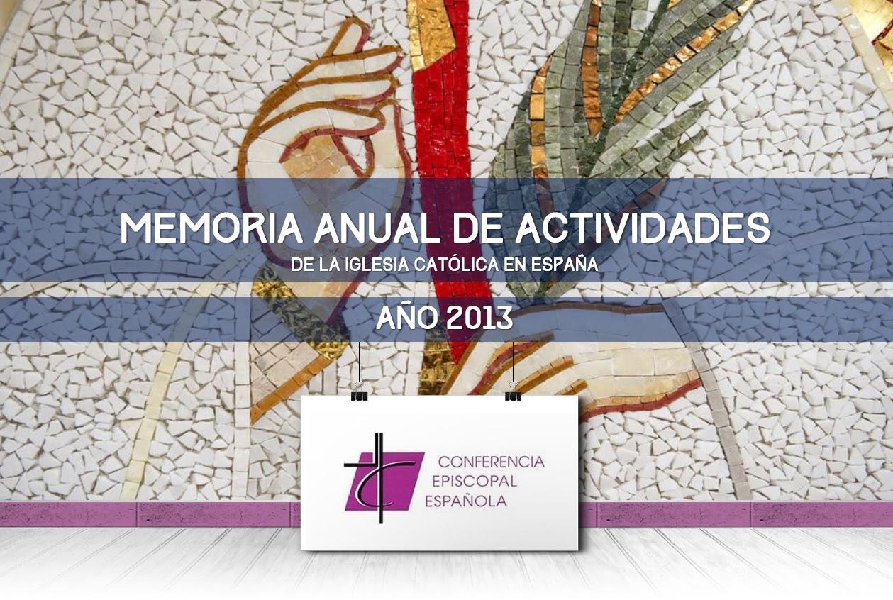Memoria de las actividades de la Iglesia católica en España año 2013
