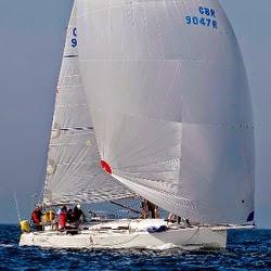 J/109 offshore cruising racing sailboat off Ireland