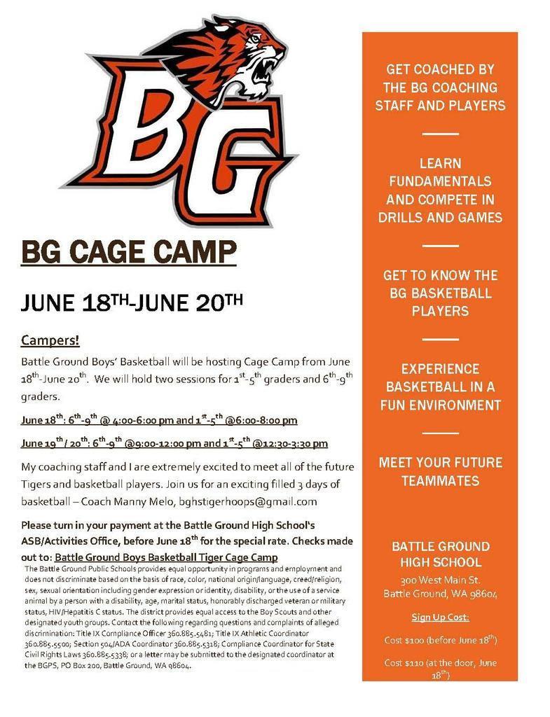 BG Cage Camp