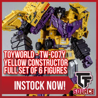 Transformers News: TFsource News! TFM Powertrain, Yellow Constructor, TR Broadside, Lord Scorpion Dark Version & More!