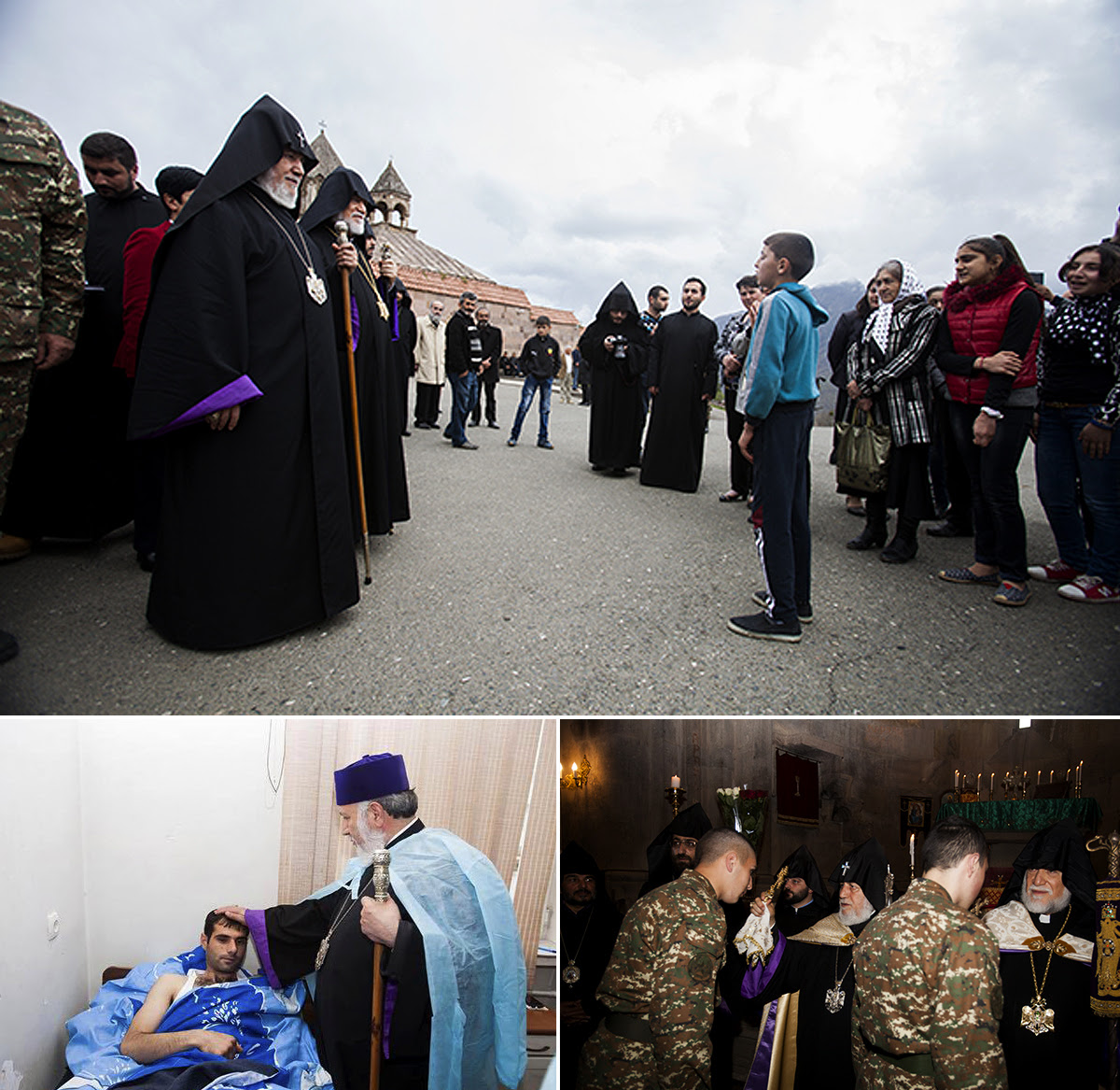 Karekin II and Aram I Visit Artsakh