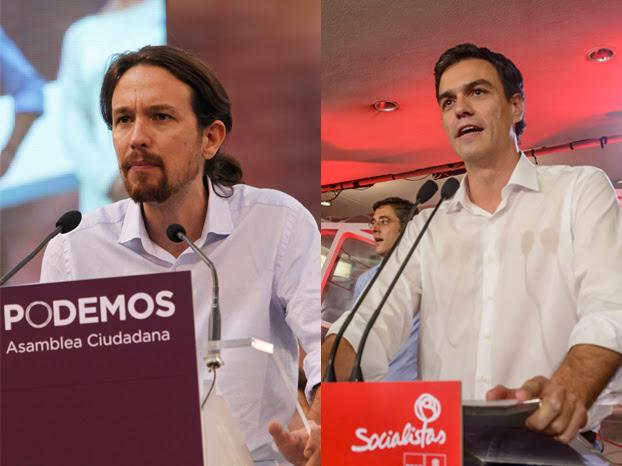Pablo Iglesias y Pedro Sánchez