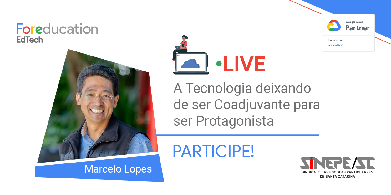 Flyer da live For Education EdTech