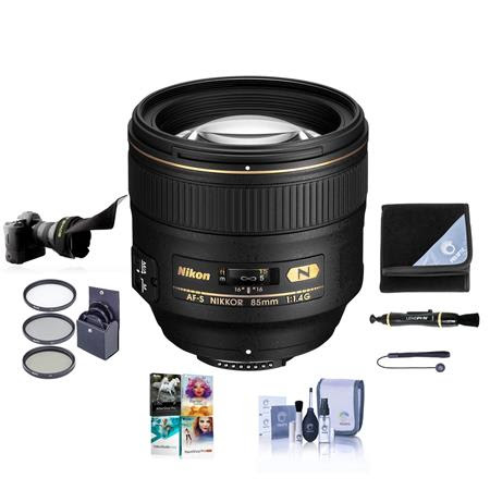 85mm f/1.4G IF AF-S NIKKOR Lens - USA. Warranty - Accessory Bundle w/77mm Filters & Softwa