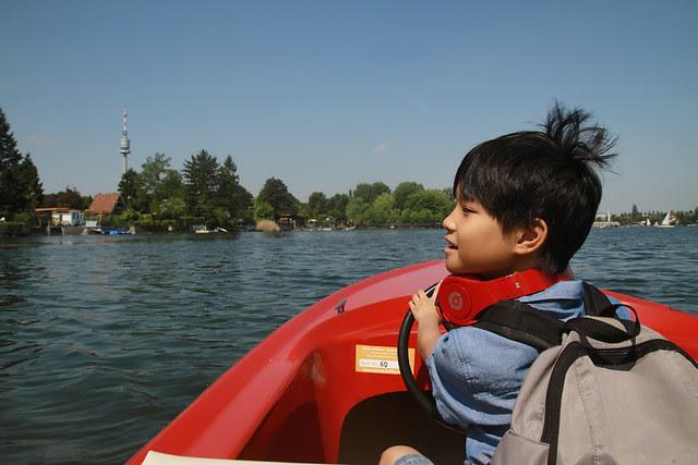 hair up, boating