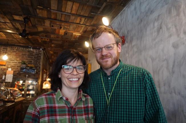 「中國製造」的導演關德琳‧瓦諾克(左)及魏吉。(記者王若馨/攝影)