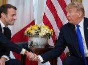 Antes de su reunión con el presidente francés, Trump reprochó a Macron sus críticas sobre la OTAN.