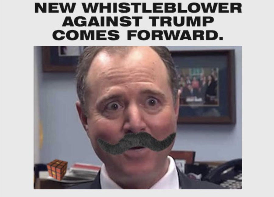 fake pic of Schiff with moustache
