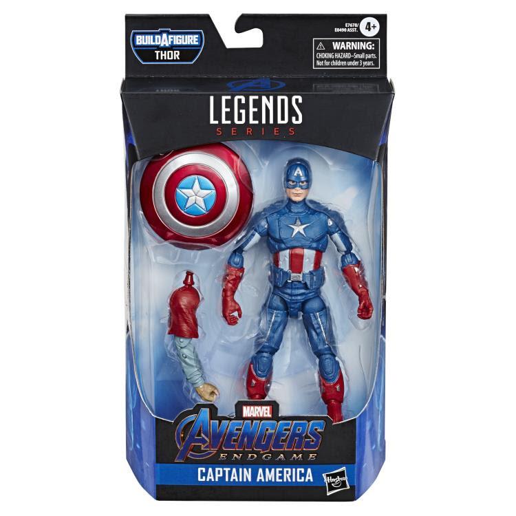 Image of Avengers: Endgame Marvel Legends 6-Inch Action Figures Wave 3 (Fat Thor BAF) - Captain America
