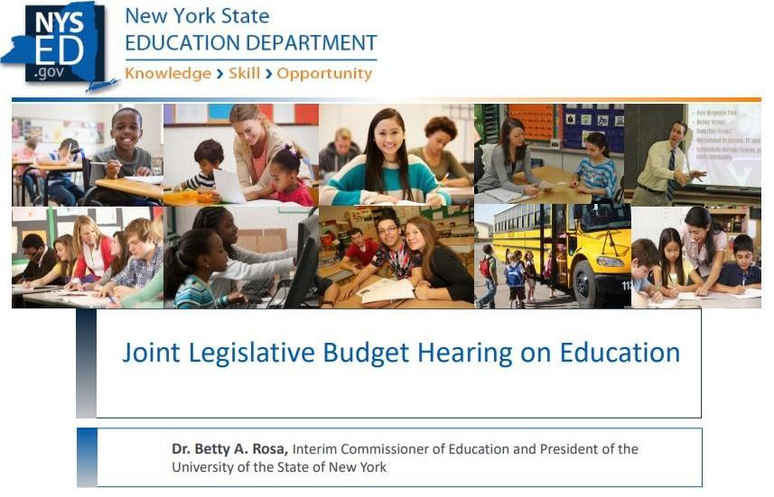 Education Budget Testimony