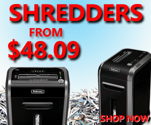 Shredders starting at $48.09!